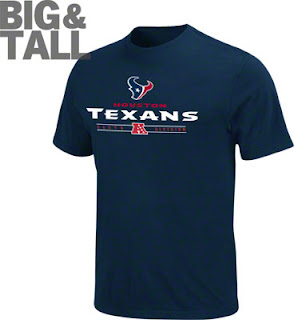 Houston Texans Big and Tall T-Shirts