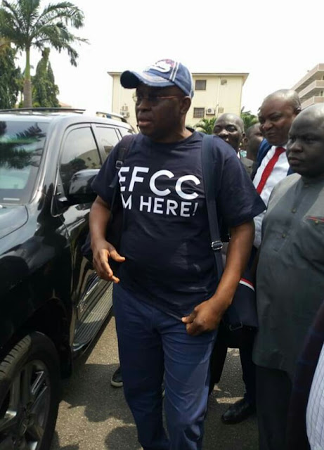Fayose Arrives EFCC Office In Style (Photo)