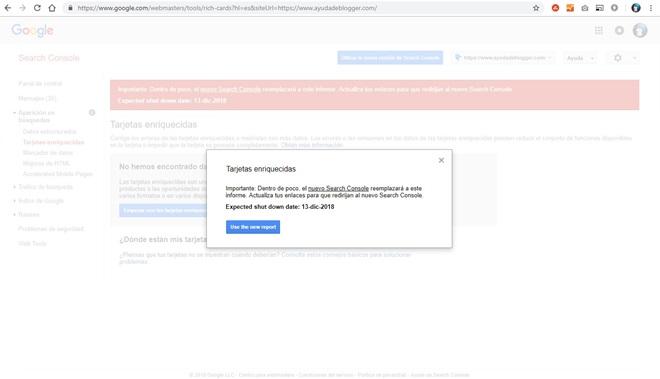 Google redireccionará los informes antiguos de la Consola de búsqueda a los nuevos este 13 de diciembre