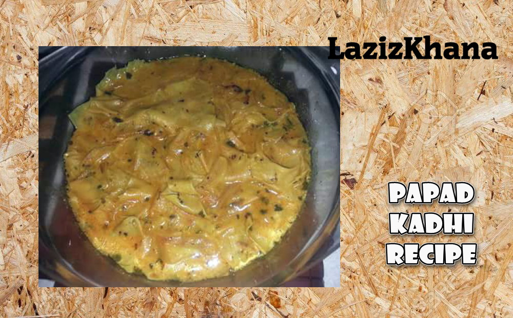 Papad Kadhi Recipe in Roman English - Papad Kadhi Banane ka Tarika