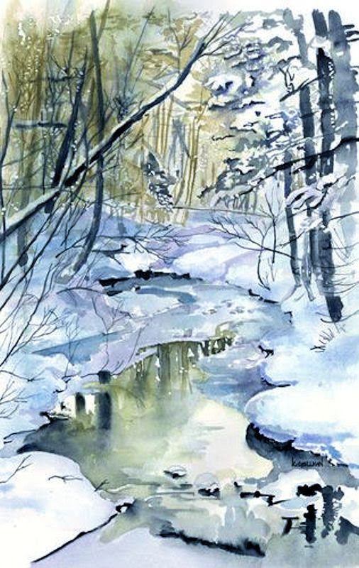 Watercolor Painting By Kathleen Spellman