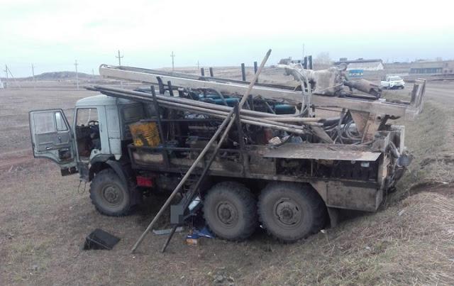 В Башкирии КамАЗ переехал «семерку»: два человека погибли