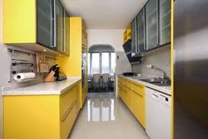 double line kitchen set