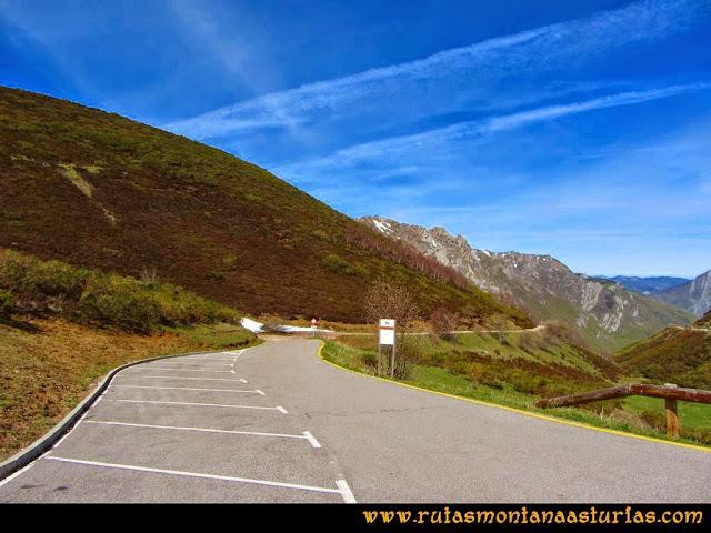 Ruta Farrapona, Albos, Calabazosa: Aparcamiento e inicio de ruta