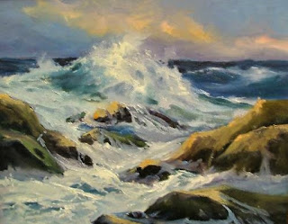 oil painting, seascape, by artist, Aletha Deuel