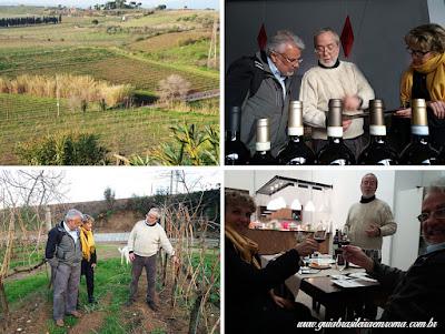 Passeando na vinícola biológica perto de Roma