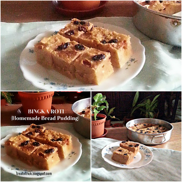 Bingka Roti (Homemade Bread Pudding) Recipe @ treatntrick.blogspot.com
