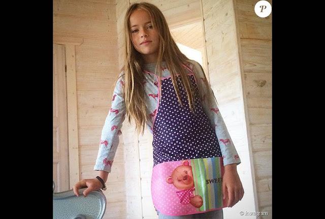 Kristina Pimenova é considerada a 'modelo mais jovem e mais linda do mundo'
