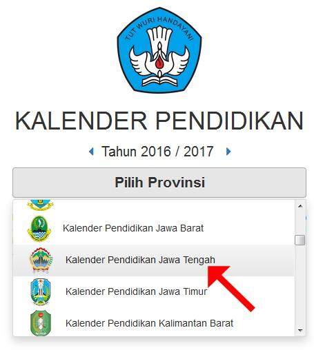 Memilih Kalender Pendidikan 2016/2017 sesuai Provinsi