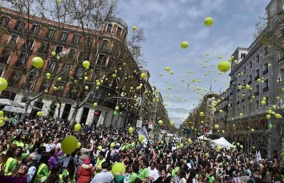 Marcha contra el aborto en España
