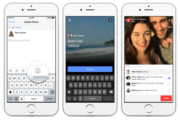 """رسميا: فيسبوك تعلن عن توفر خدمة """"Facebook Live"""" بميزات جديدة"""