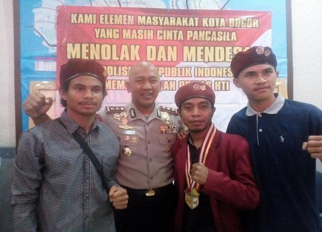TOLAK HTI, PMKRI Bogor Sambangi Polresta Bogor
