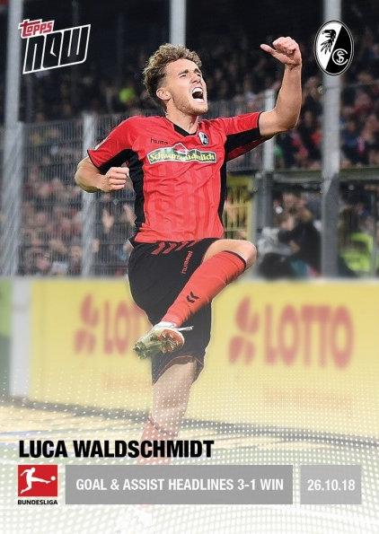2018-19 Topps NOW Bundesliga 32 Bayer 04 Leverkusen Massive 6-2 Victory