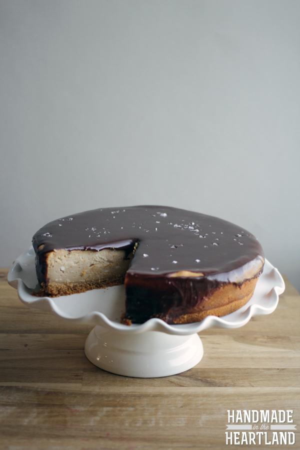 Peanut Butter Cheesecake with Chocolate Ganache