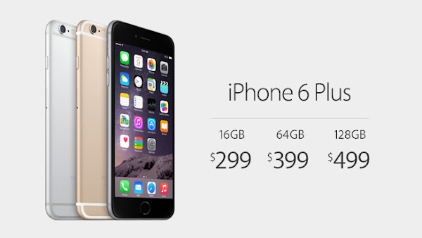 iPhone 6s Plus offers up to 128GB of storage