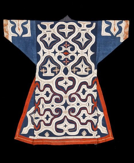Ainu Kaparamip robe, late 19th century