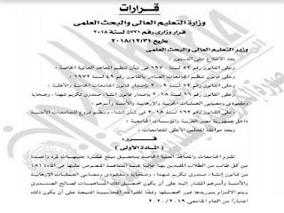 رسمياً قرار تحصيل 10 جنيهات من كل طالب لصالح أسر شهداء العمليات الإرهابية وتم نشره في الجريدة الرسمية للتطبيق فوراً