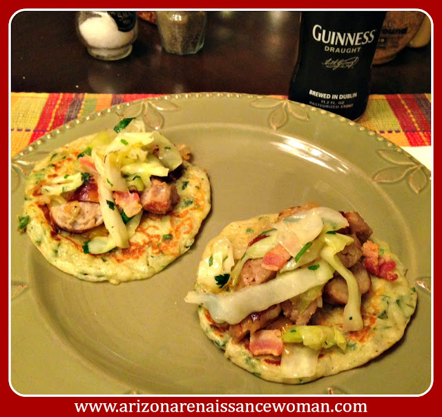 Bangers and Mash Tacos and Guinness for St. Patrick's Day