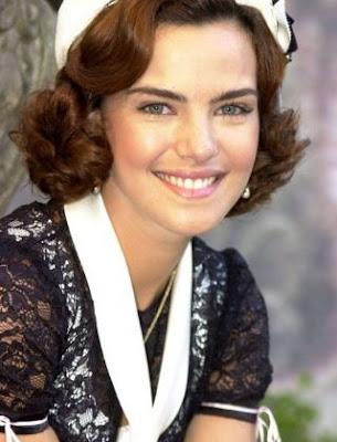 Ana Paula Arósio caracterizada como a judia Camille