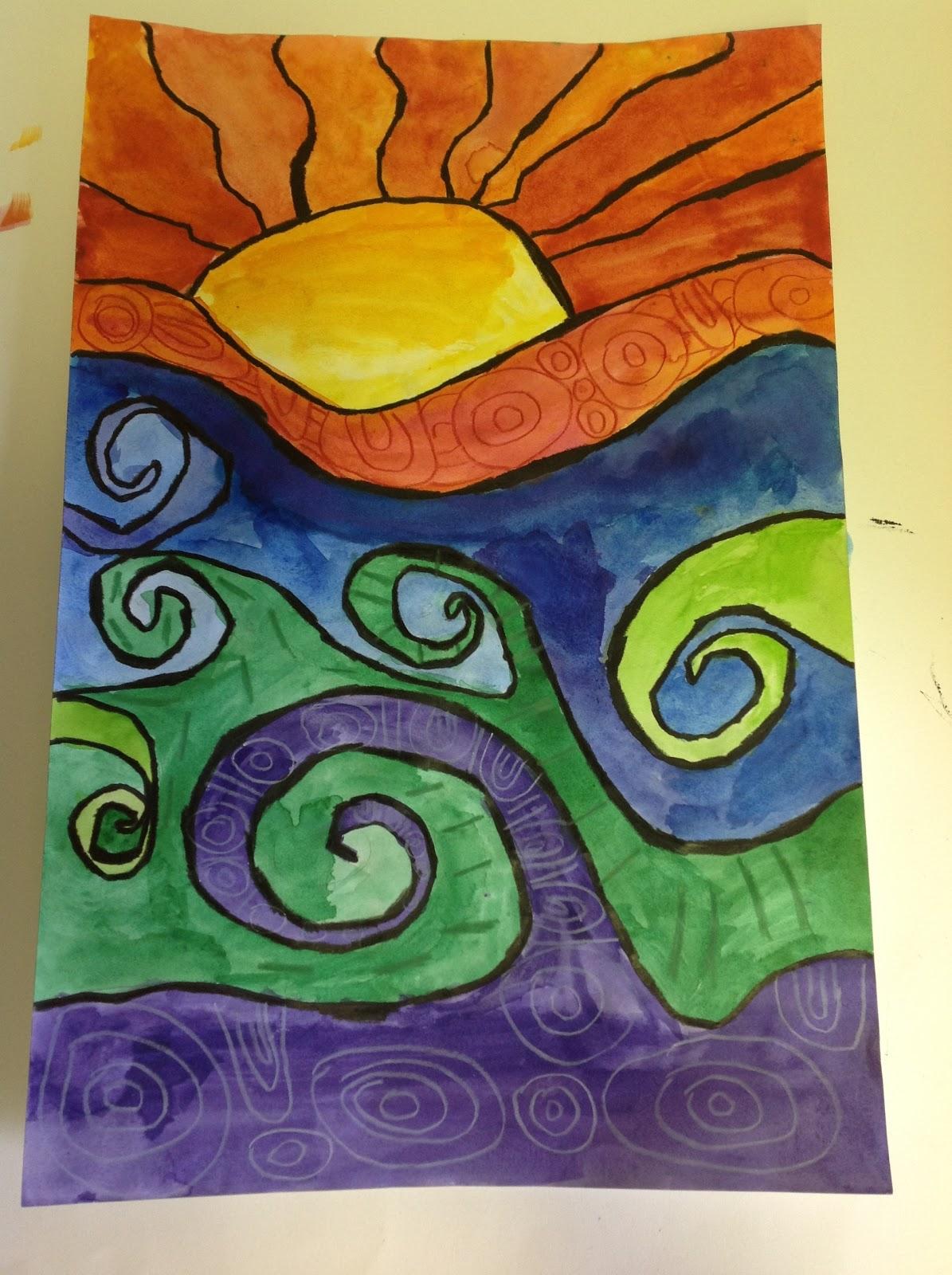 Grades 5 8 Warm Cool Sun Waves - Lessons - Tes Teach