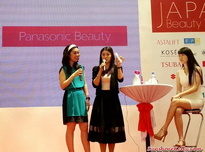 Panasonic Beauty, Panasonic Beauty Pore Cleanser, Japan Beauty Week, On Stage presentation, on stage demo