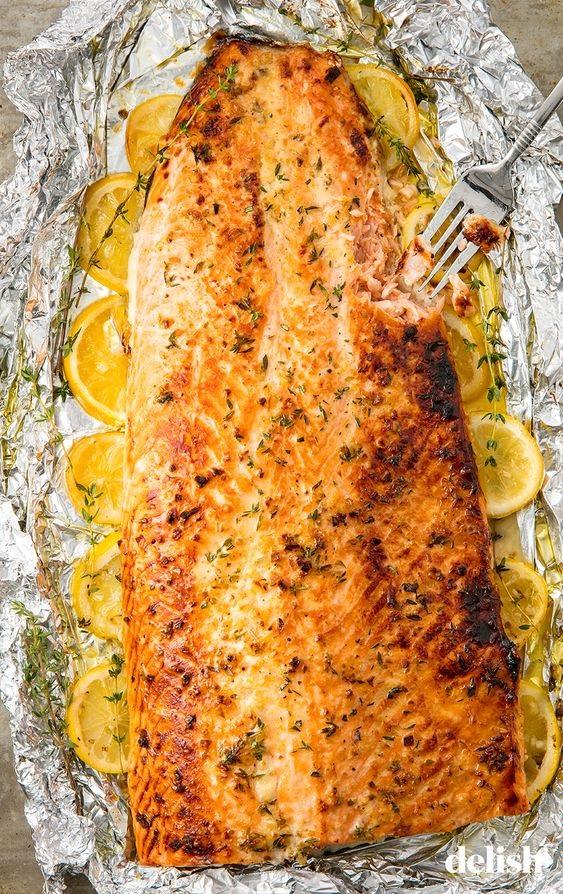 Baked Garlic-Butter Salmon