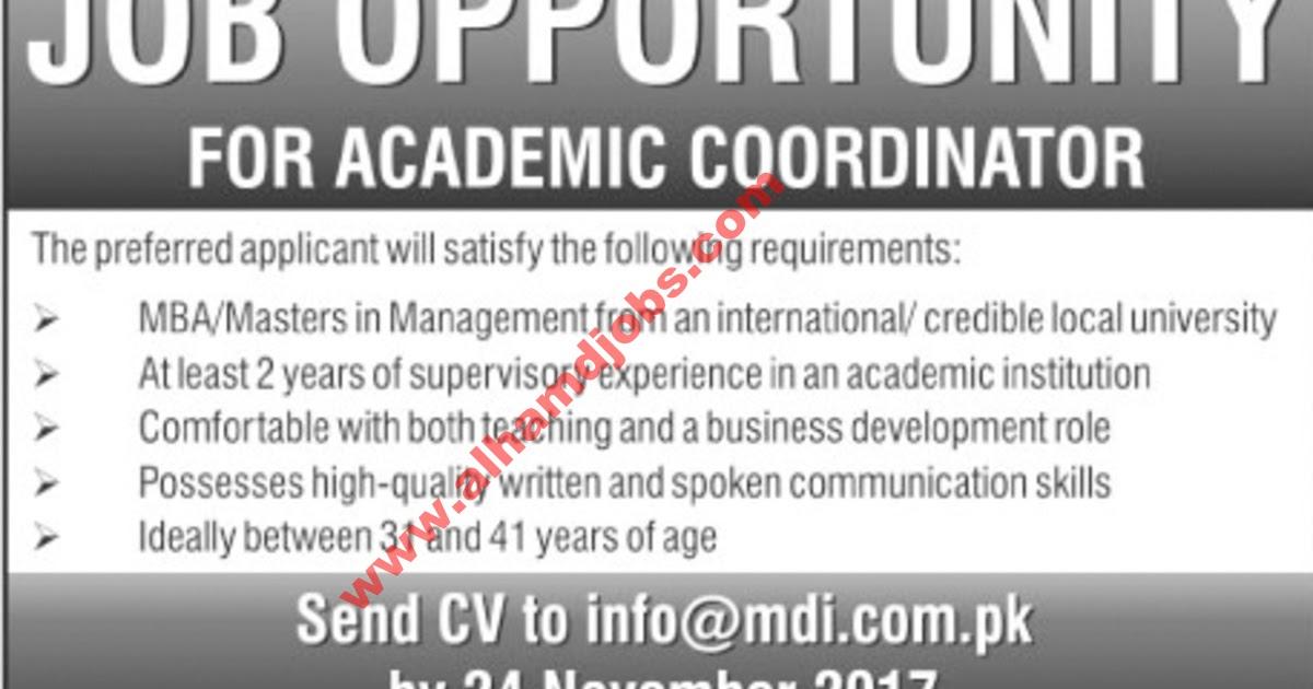 AL-HAMD Jobs: Job Opportunities for Academic Coordinator Thursday ...