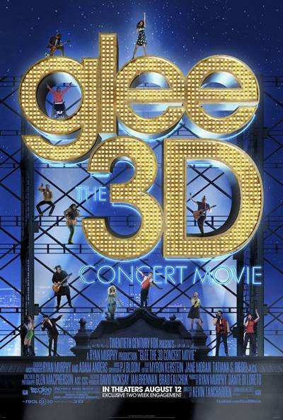 Glee The 3D Concert Movie 2011 DVDR Menu Full Español Latino NTSC Descargar