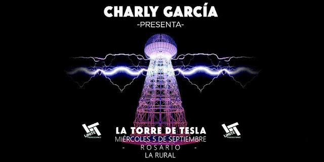 Charly García vuelve a Rosario con la Torre de Tesla el 5 de Septiembre