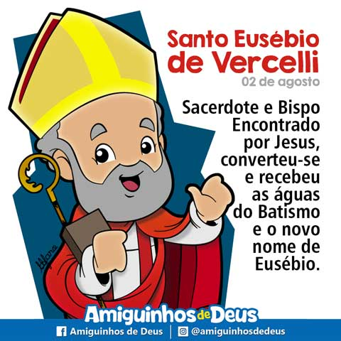 Santo Eusébio de Vercelli desenho