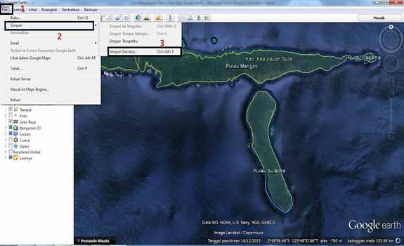 Cara Menyimpan Gambar Lokasi Dari Google Earth