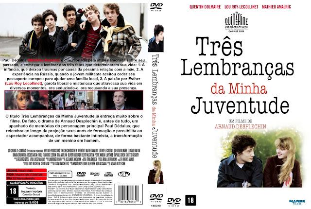 Capa DVD Três Lembranças Da Minha Juventude