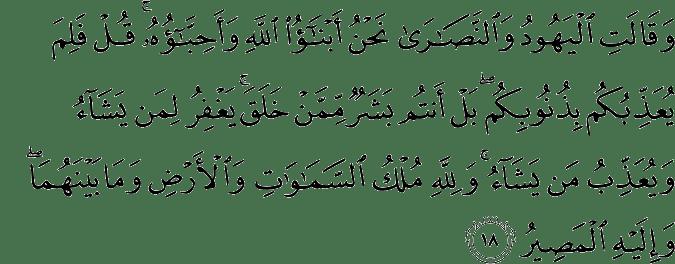 Surat Al-Maidah Ayat 18