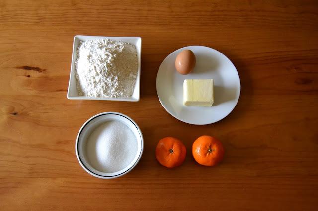 farina, sucre, ou, mantega i mandarines de proximitat