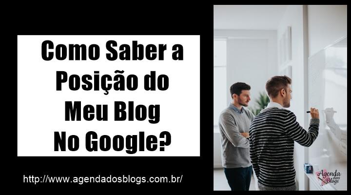 Posição do blog no Google.