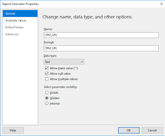 Dynamics 365 and SSRS - Hyperlink a Customer Type Lookup Field Value