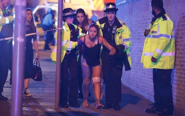 WarOnTerror : Barbaric attack at Ariana Grande concert in Manchester Arena,UK.Kamikaze kills other young people and children !
