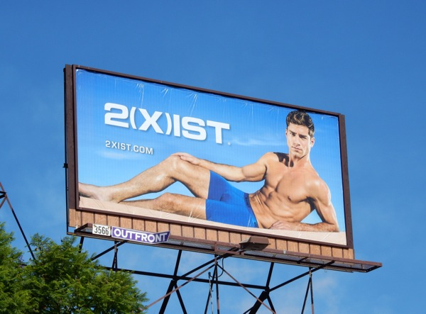 2Xist underwear billboard August 2015