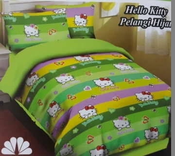 Hello Kitty Pelangi Hijau