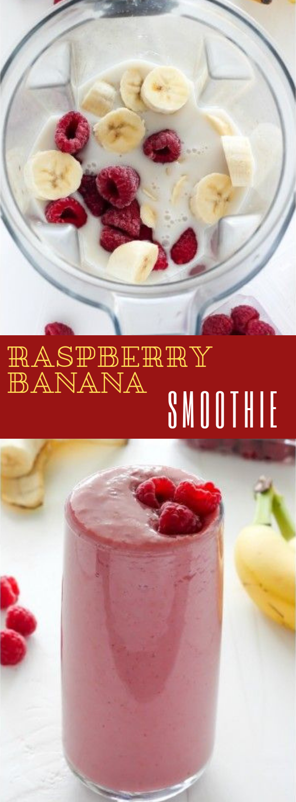 Raspberry Banana Smoothie #drink #smoothie