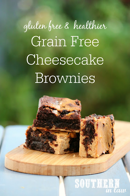 Easy Grain Free Cheesecake Brownies Recipe from Scratch - gluten free, grain free, clean eating recipe, healthy, sugar free