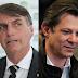 Pesquisa BTG Pactual: Bolsonaro tem 35% dos votos válidos; Haddad tem 27%