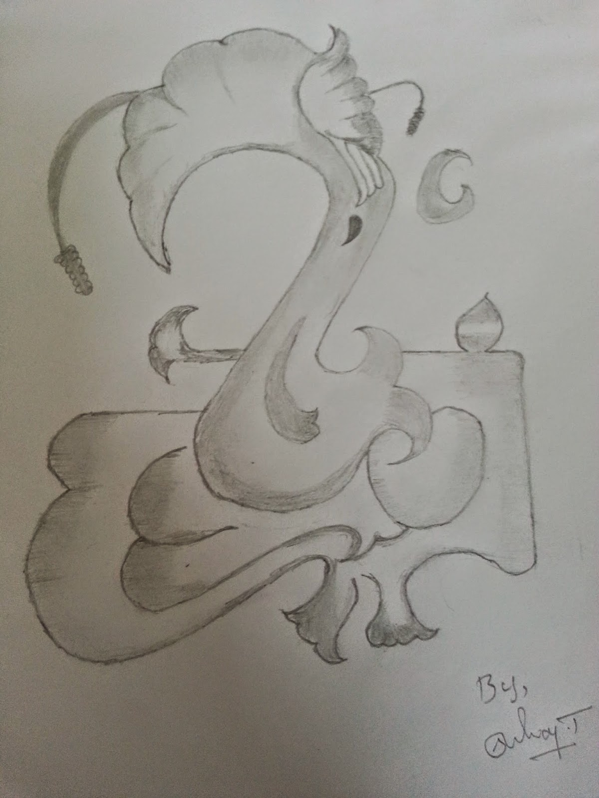 Ganapathi pencil drawings lord ganesha pencil sketch ganapathy part1