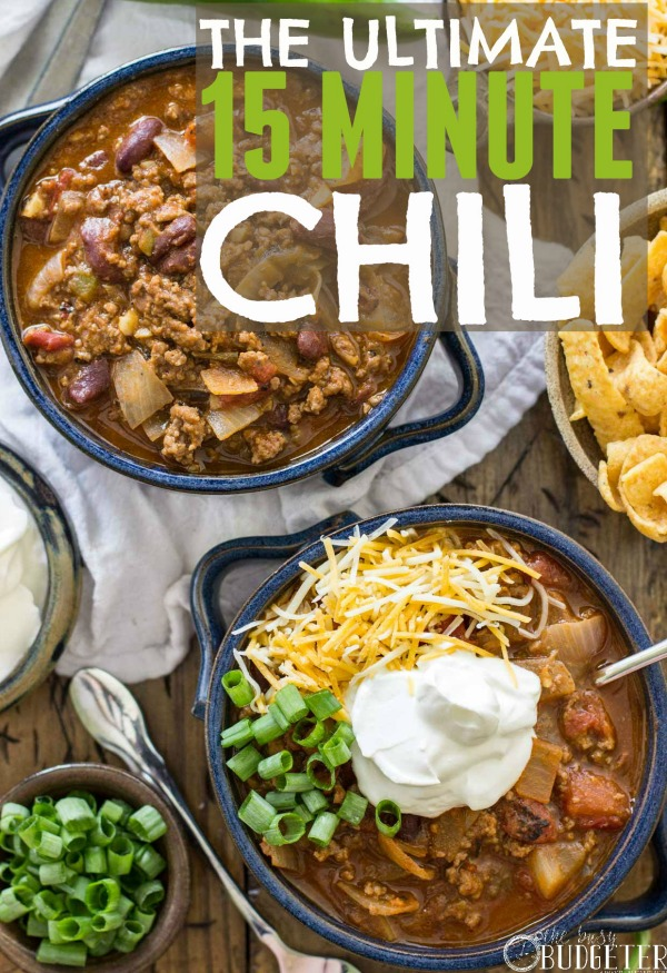 15 Minute Chili Recipe from The Busy Budgeter