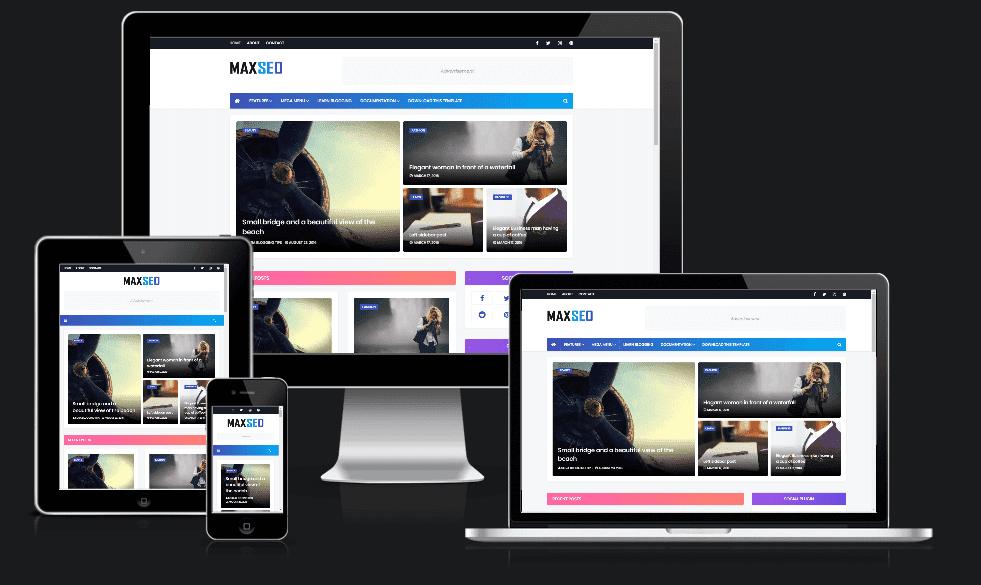 MaxSeo Premium Blogger Template