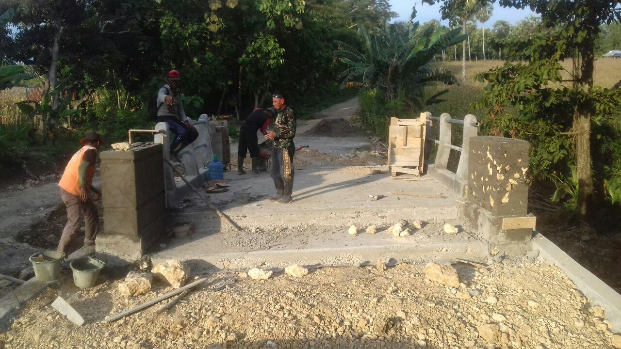 Ini Perkembangan Terakhir Pembuatan Jembatan di Lokasi TMMD Kodim 1407/Bone