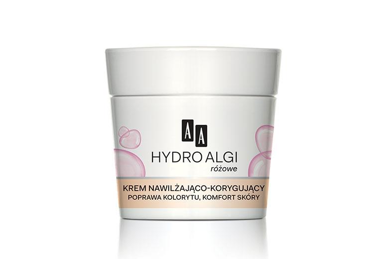 AA HydroAlgi Różowe Krem nawilżająco-korygujący, poprawa kolorytu, komfort skóry