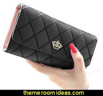 Fashion Lady's Clutch Long Purse Leather Wallet