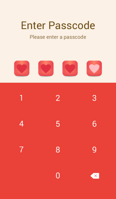 Simple Red Button theme