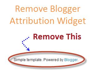 Cara Menghapus Tulisan Powered By Blogger Dengan Cepat
